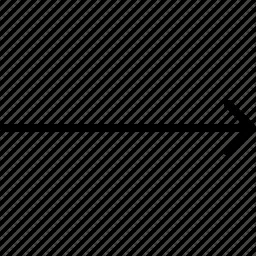 arrow, direction, indicator, orientation, right icon