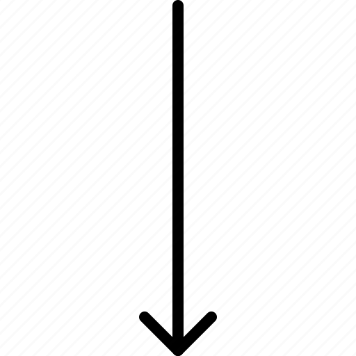 arrow, direction, down, indicator, orientation icon