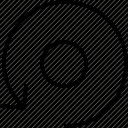 arrow, direction, move, object, orbit, orientation, rotate icon