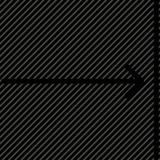 arrow, direction, indicator, move, orientation, right icon