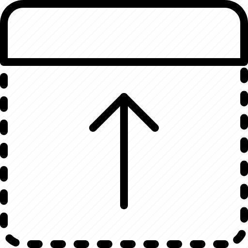 arrow, direction, drag, move, object, orientation, top icon
