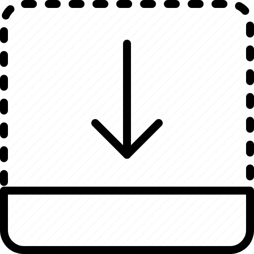 arrow, direction, down, drag, move, object, orientation icon