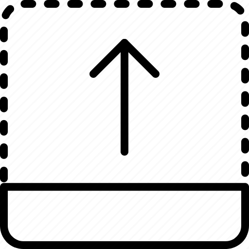 arrow, direction, drag, object, orientation, top icon