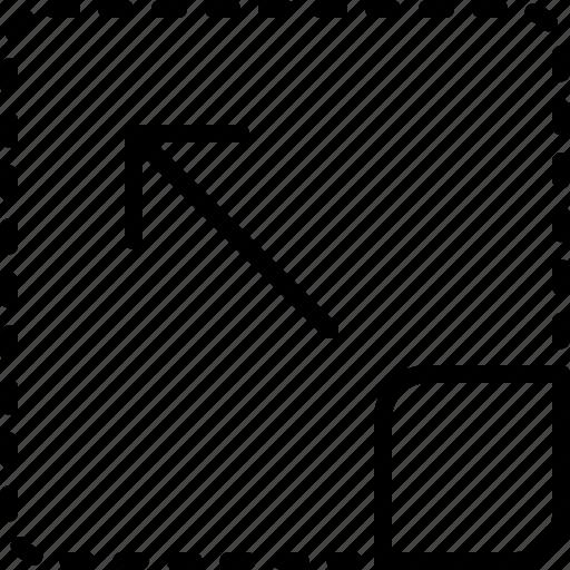 arrow, direction, drag, move, object, orientation icon