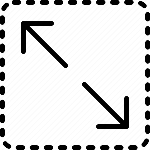 arrow, diagonal, direction, expand, indicator, orientation icon