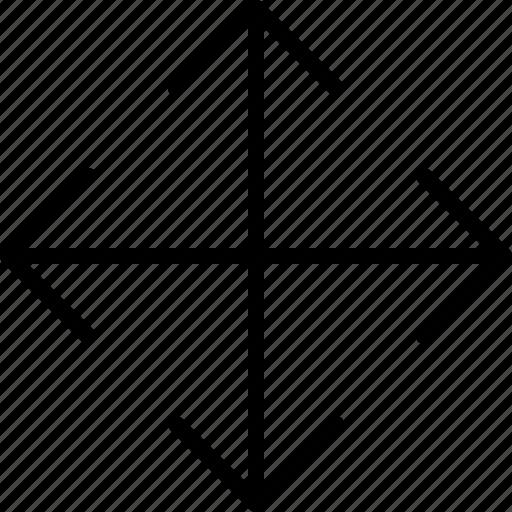 arrow, direction, drag, move, orientation icon