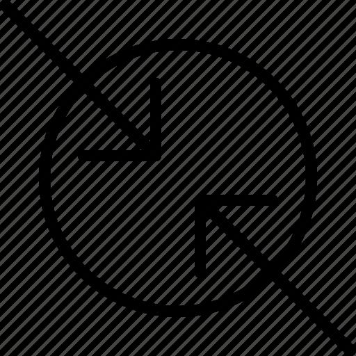 arrow, compress, diagonal, direction, move, orientation icon