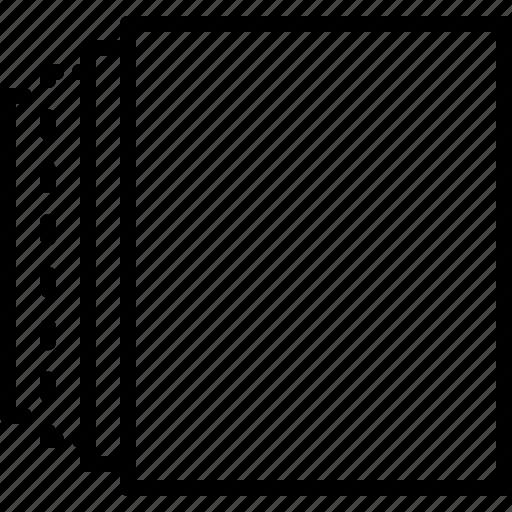 arrange, background, data, layer, level, sheet, stack icon
