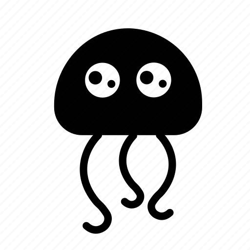 emoji, happy, jellyfish, sea creature, wondering icon