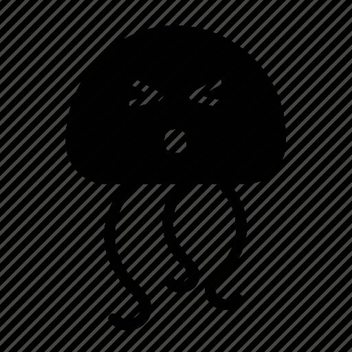 emoji, happy, jellyfish, sea creature, surprised icon