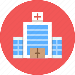 building, clinic, first aid, hospital icon