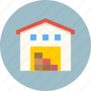 building, storage, warehouse icon