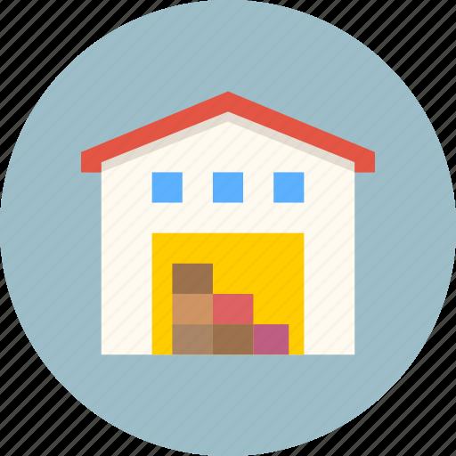 building, depot, storage, storehouse, warehouse icon