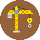 building, crane, hook icon