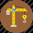 building, crane, hook