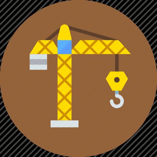 building, construction, crane, hook, industrial, industry icon