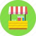 fair, lemonade, shop, stand icon