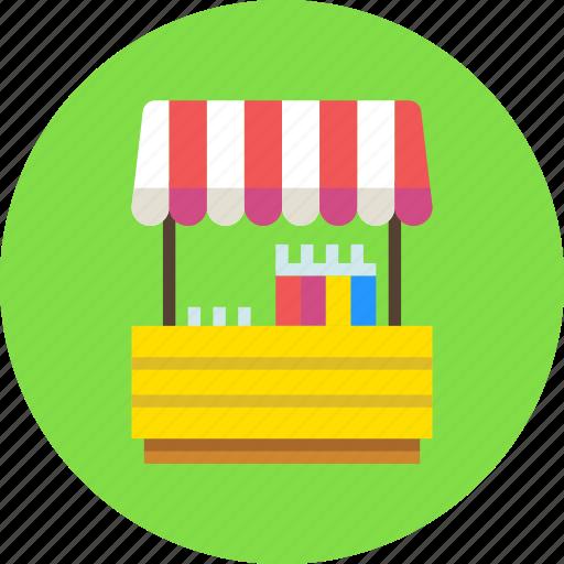 fair, lemonade, shop, stand icon