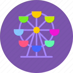 amusement, attractions, ferris, park, wheel icon