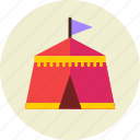camp, fair, park icon