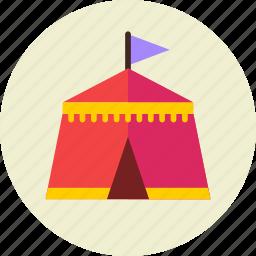 camp, fair, park, tent icon