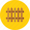 fence, hedge, palisade icon