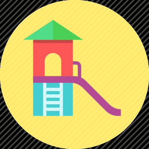 children town, kids, park, playground, slides icon