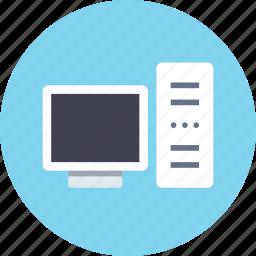 computer, desktop, pc, server icon