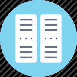 center, data, network, pc, phone, rack017, server icon