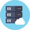 backup, base, cloud, data, database, rack, server icon