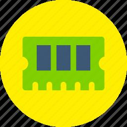 circuit board, hardware, memory, ram icon