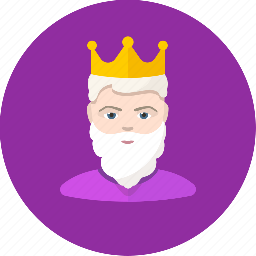 beard, cesar, guy, king, man, monarch, user icon