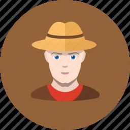 avatar, cowboy, human, man icon