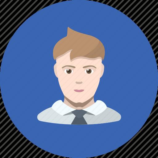 avatar, clerk, guy, human, man, office icon