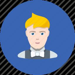 avatar, clerk, human, man, office, showman icon