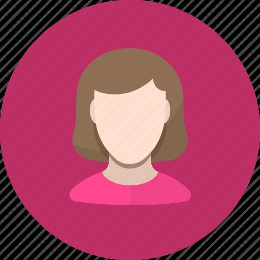avatar, girl, human, user, woman icon
