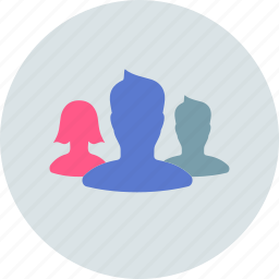 collective, company, friends, group, masses, silhoette icon