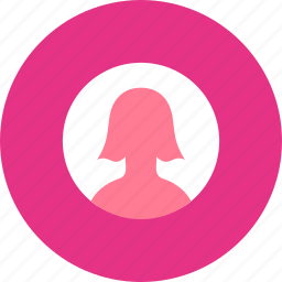 avatar, girl, profile, round, user, woman icon