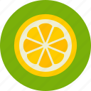 fruit, lemon, slice icon