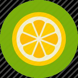 fruit, lemon, slice icon