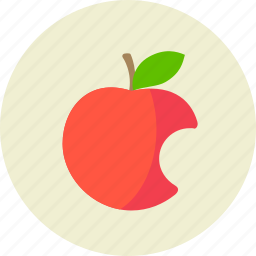 apple, bitten, cardinal, food, fruit, genesis, sin icon