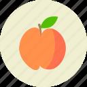 food, fruit, peach