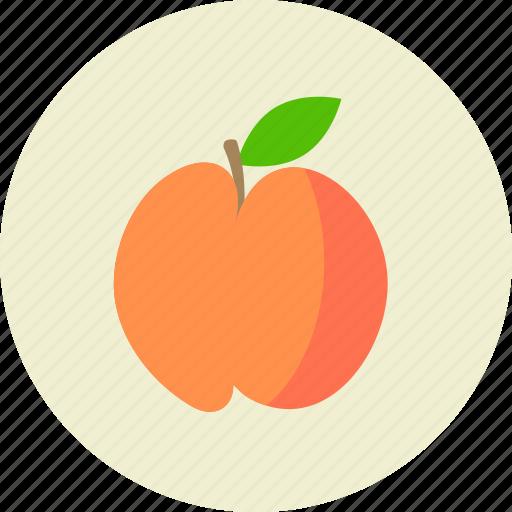 food, fruit, peach icon