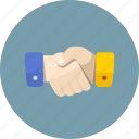 hand, handshake, partner icon