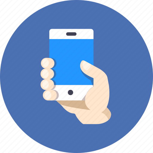demonstrate, hand, smartphone icon