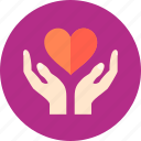care, cover, guardar, hands, love, save, shelter icon