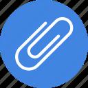 attach, clip, paper icon