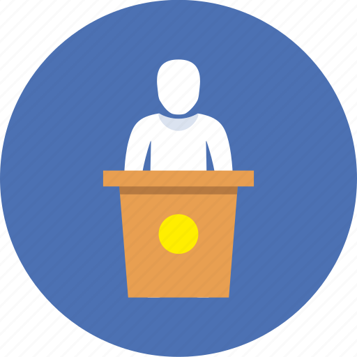 business, college, speech icon