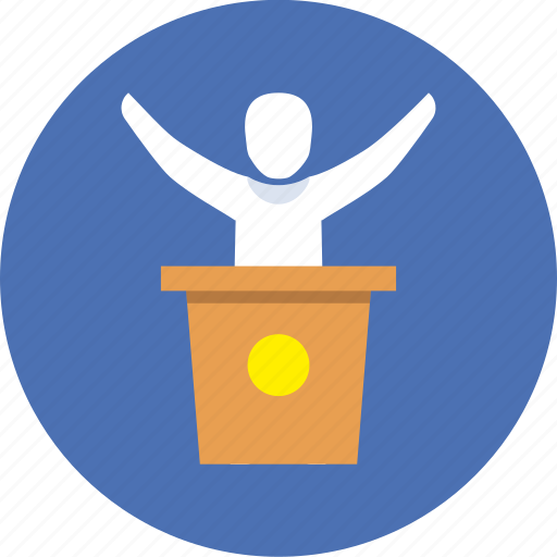elections, speech, victory icon