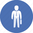clerk, human, man, office, work, workman icon